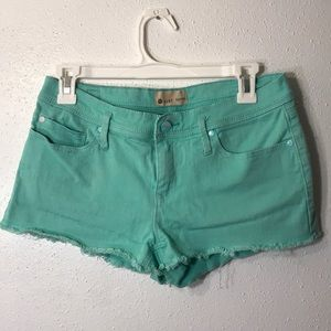 ROXY Mint Green Denim Shorts